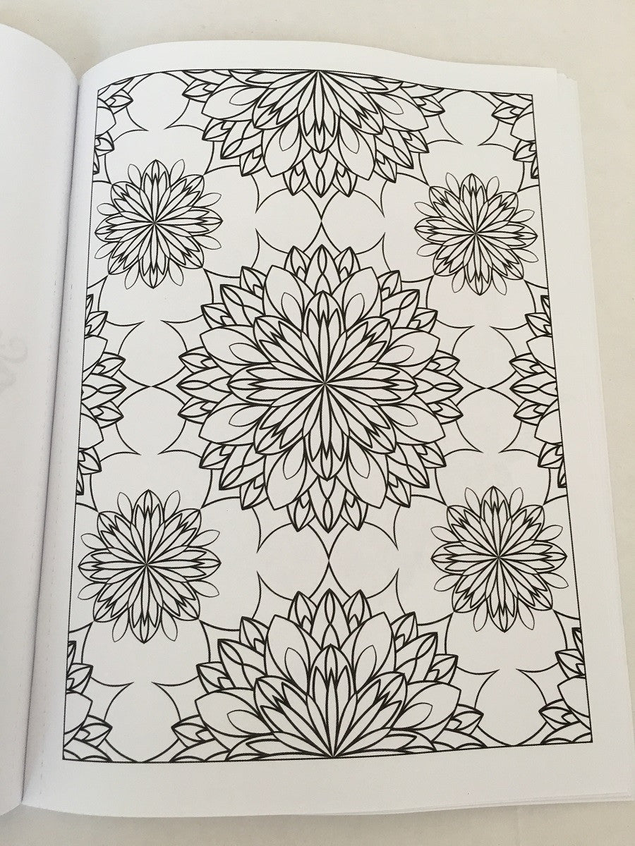 Adult Coloring Book Sample Page (Patterns)