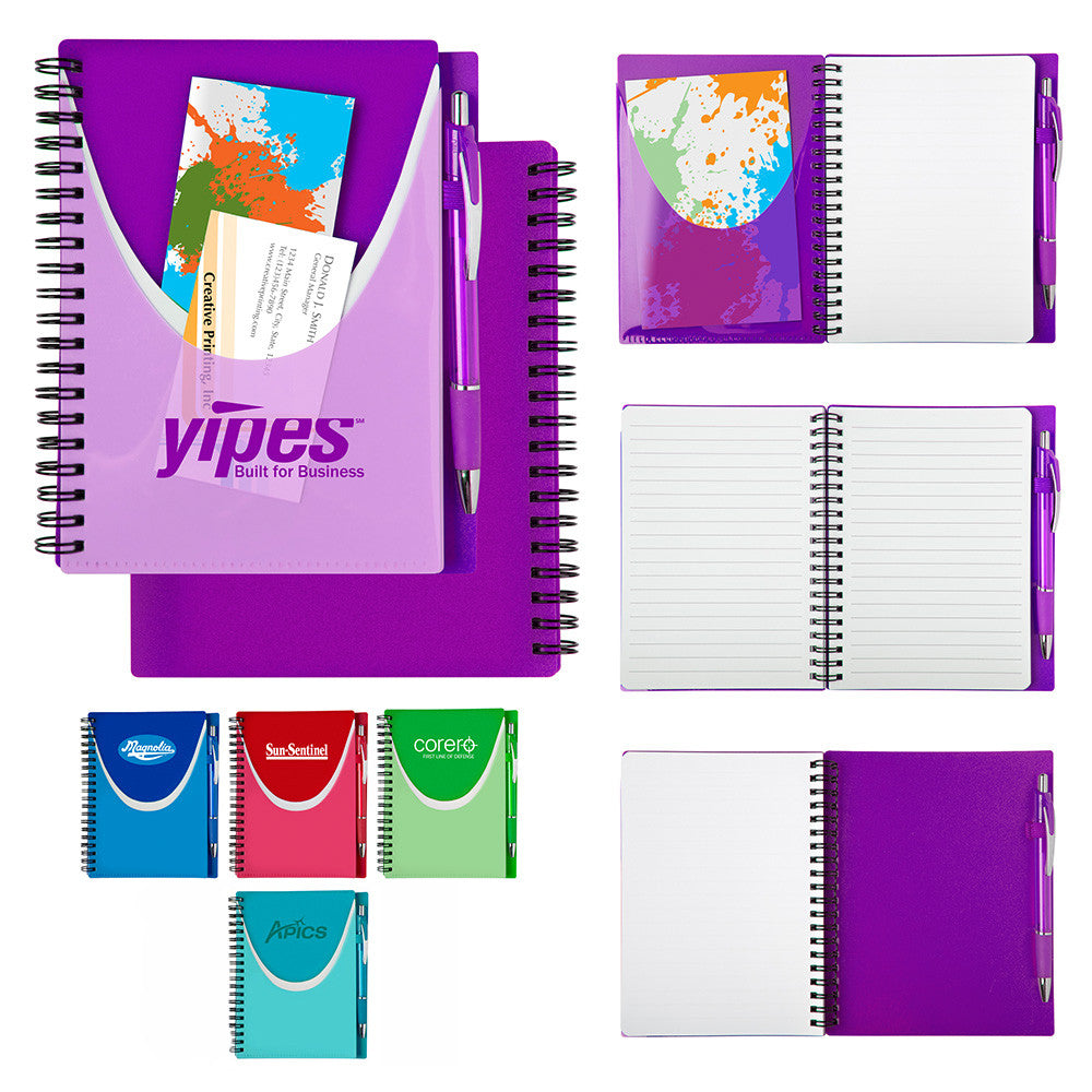 Colorful Notebook with Matching Pen