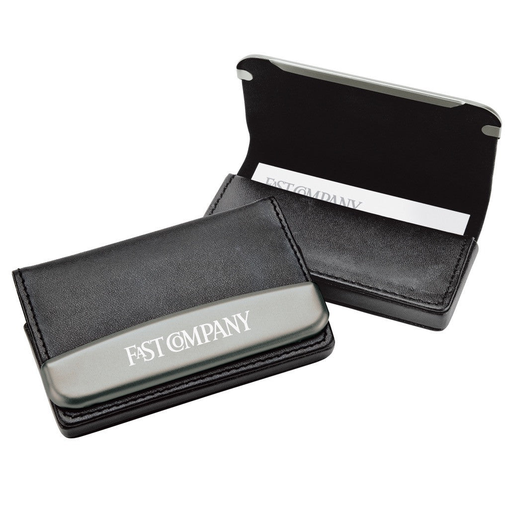 Leather Business Card Holder  Engraved Business Card Holders - PROMOrx
