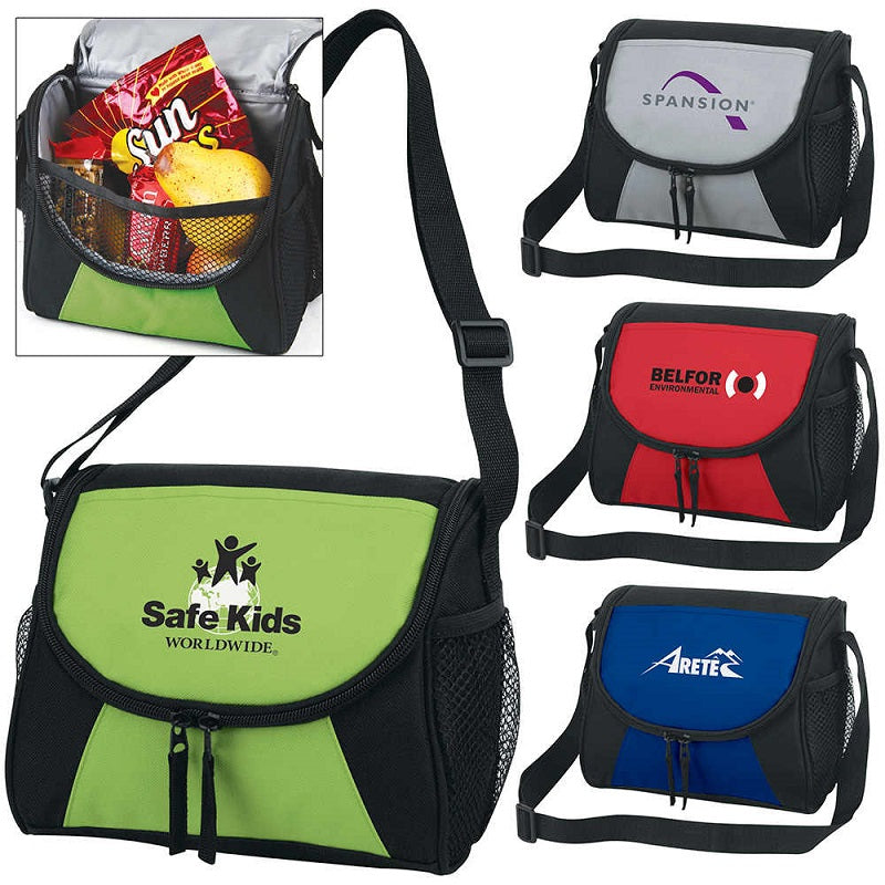 Lunch Bag Cooler with Water Pocket