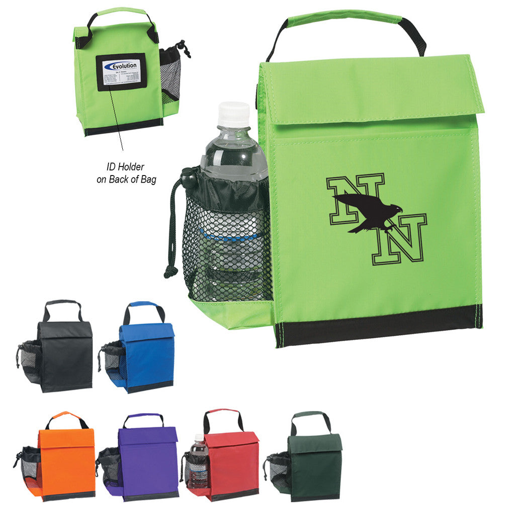 Nylon Lunch Bag with ID Holder