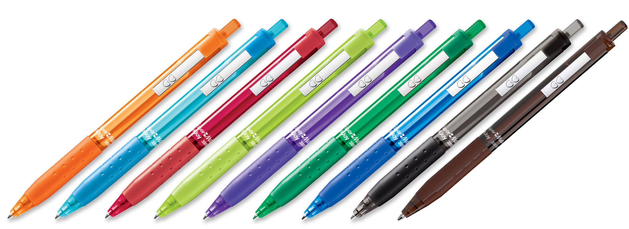 Translucent barrel retractable pen with colored ink