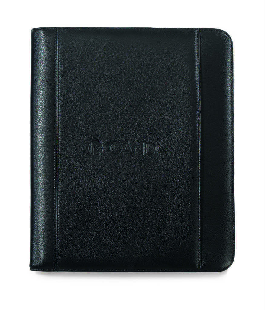 Genuine Leather Portfolio with Tablet Storage