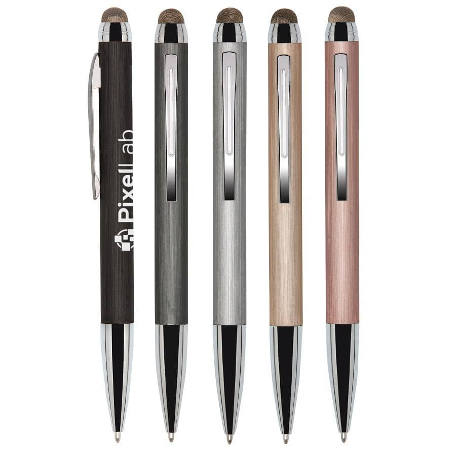 Engraved Stylus Pens - metal colors