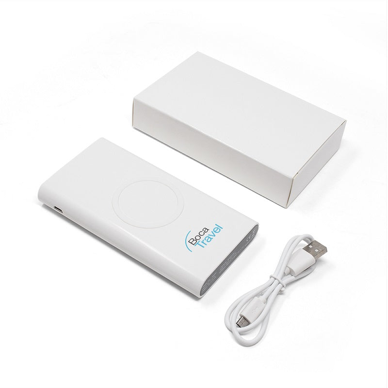 Wireless Charger + 8000 mAh Power Bank