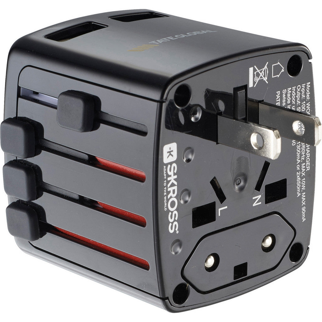 World Travel Adapter Custom USB Charger