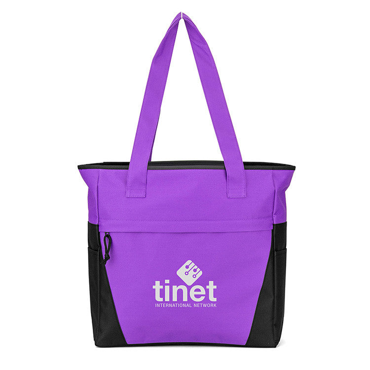 Colorful Zip Top Tote Bags