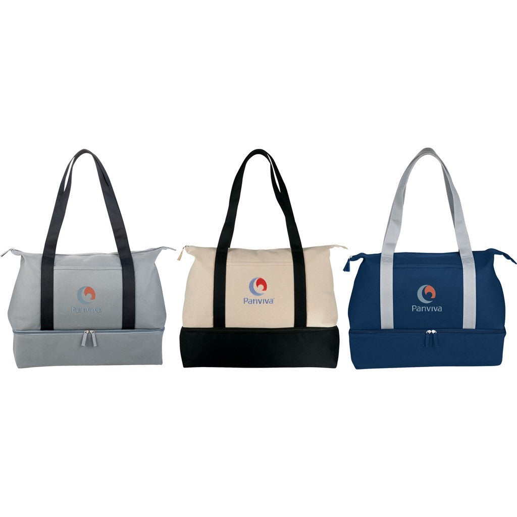 Zippered Cotton Travel Tote