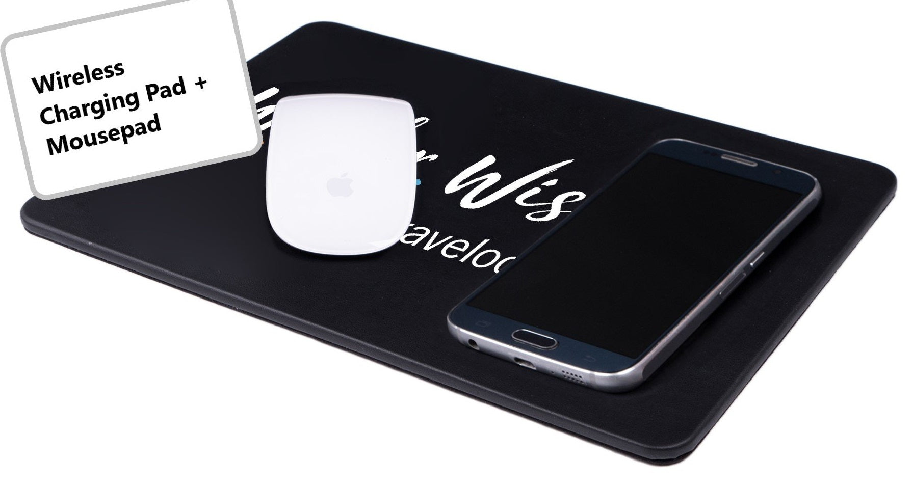 branded wireless charging mouse pad