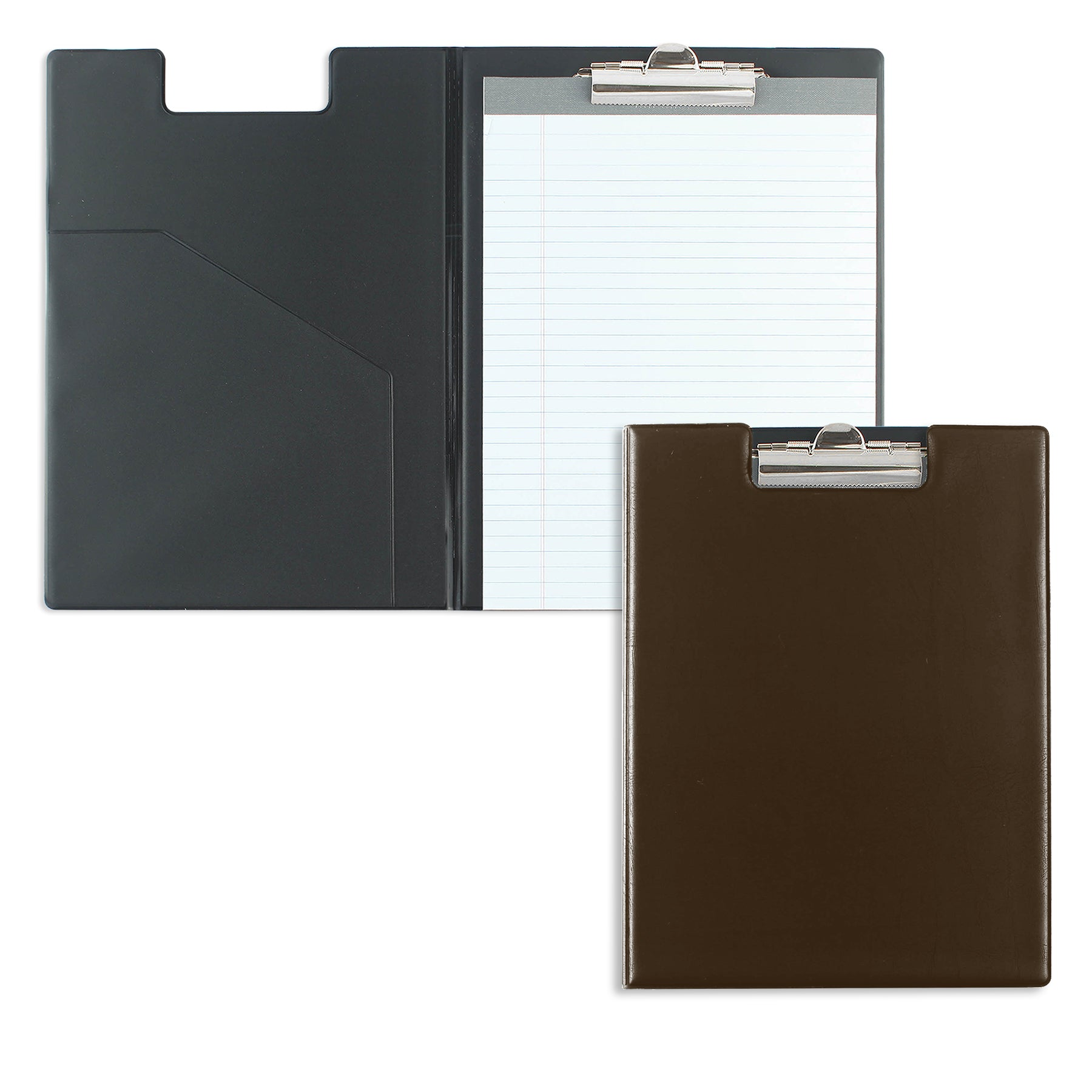 Brown Writing Pad Folder with Logo
