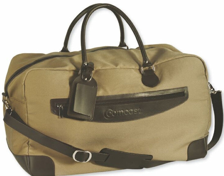Canvas + Leather Travel Bag