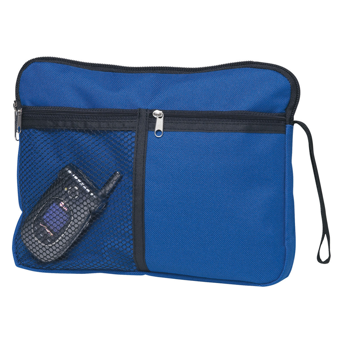 Carry All Accessory Zip Bag Blue