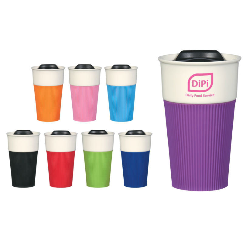 Ceramic Coffee Tumbler with Sleeve