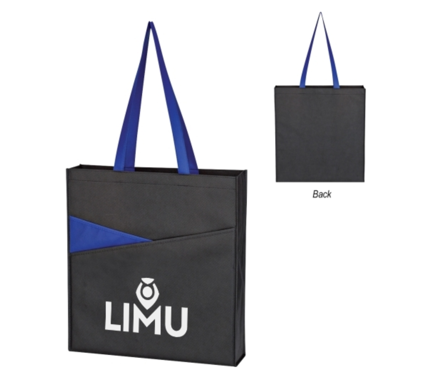 convention tote bags - blue