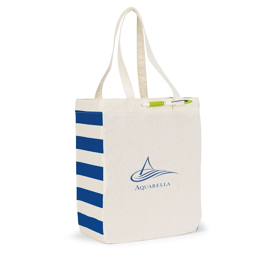 Cotton Market Tote Bag with End Panel Trim