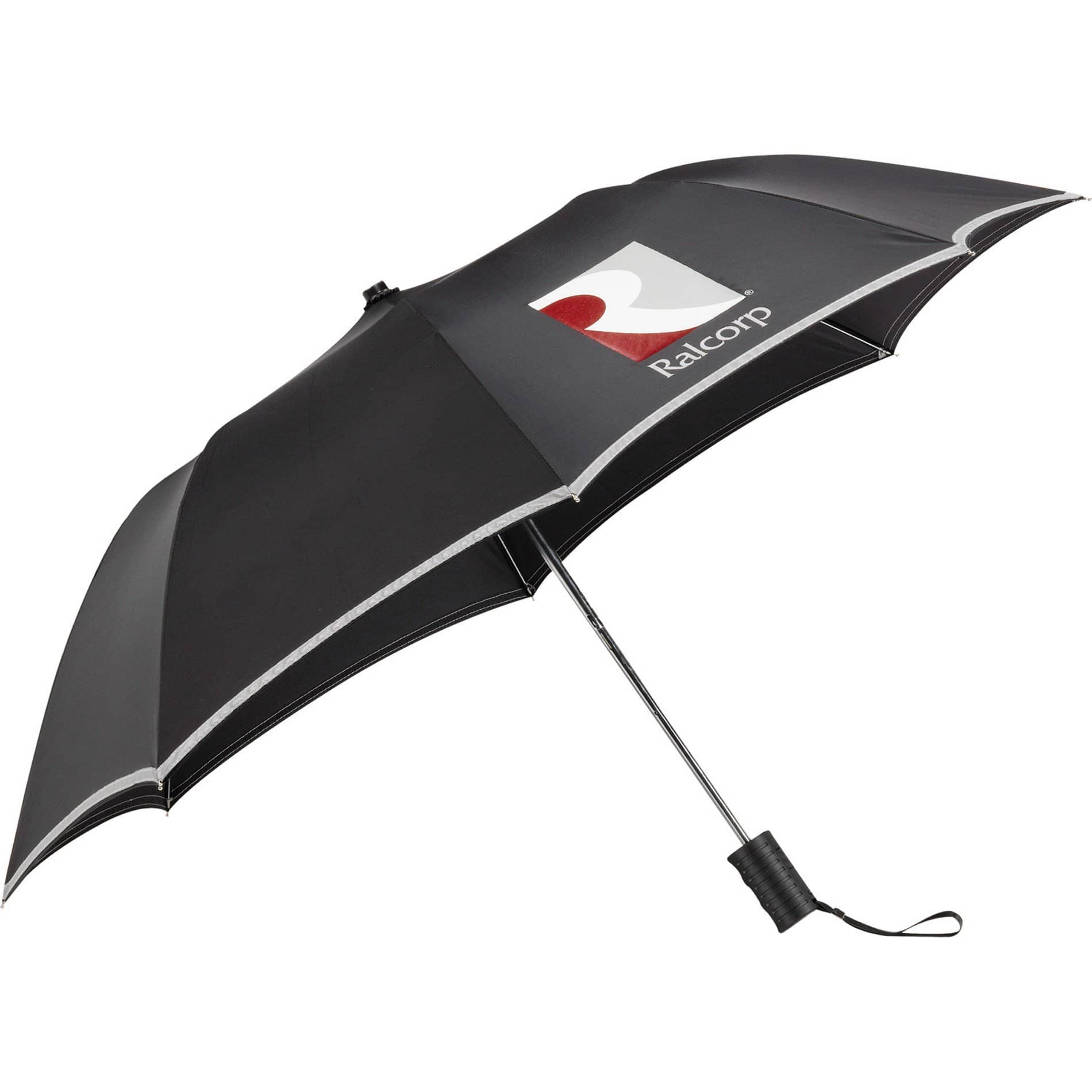 custom folding umbrella reflective safety trim