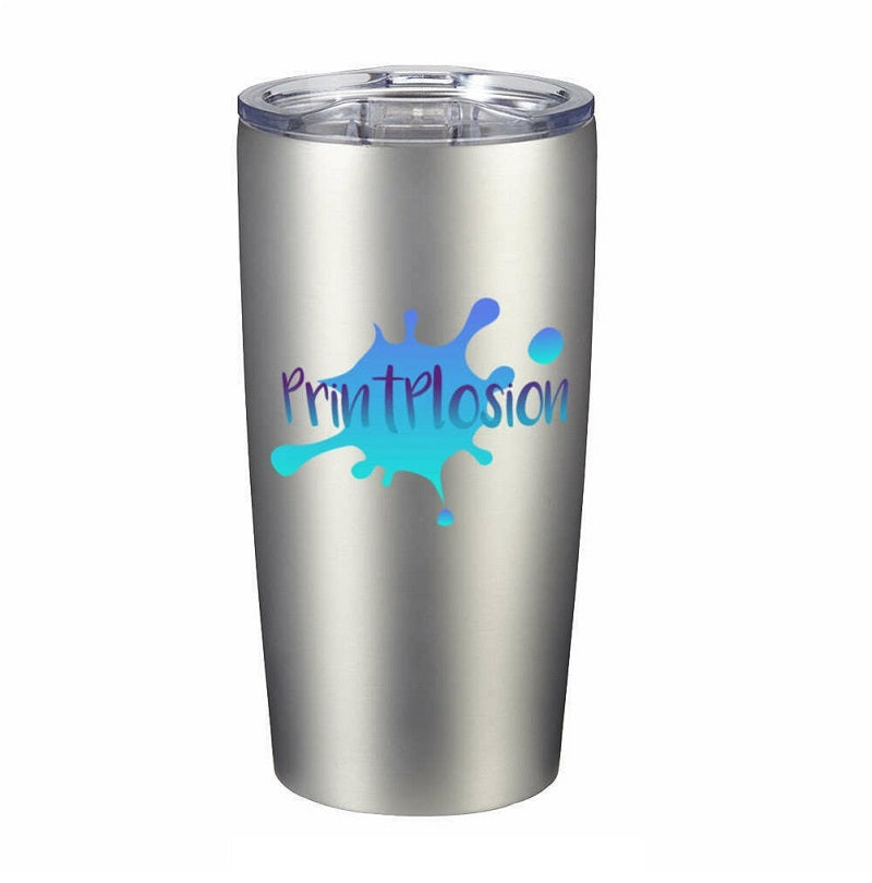 custom coffee tumblers silver