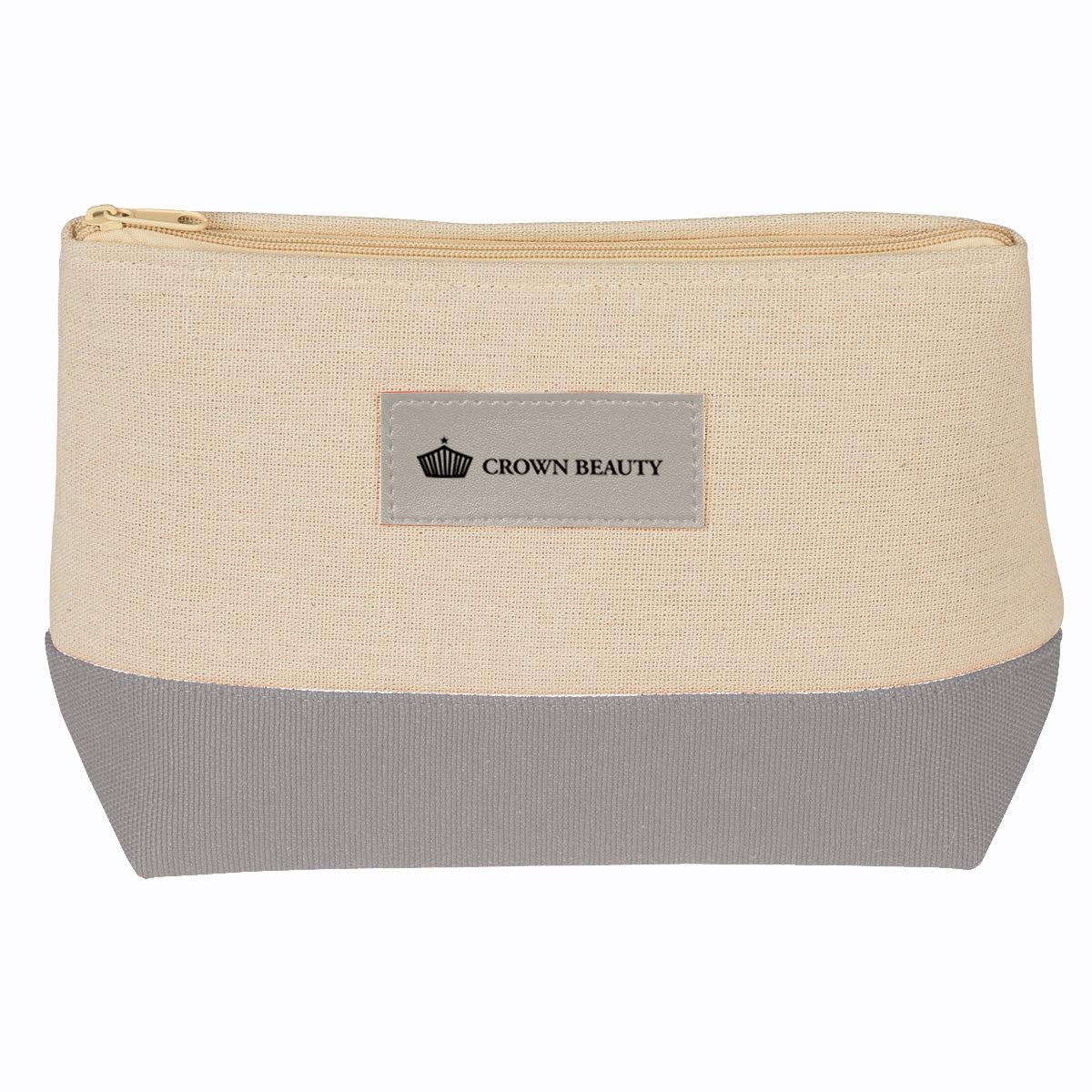 custom cosmetic bag - gray