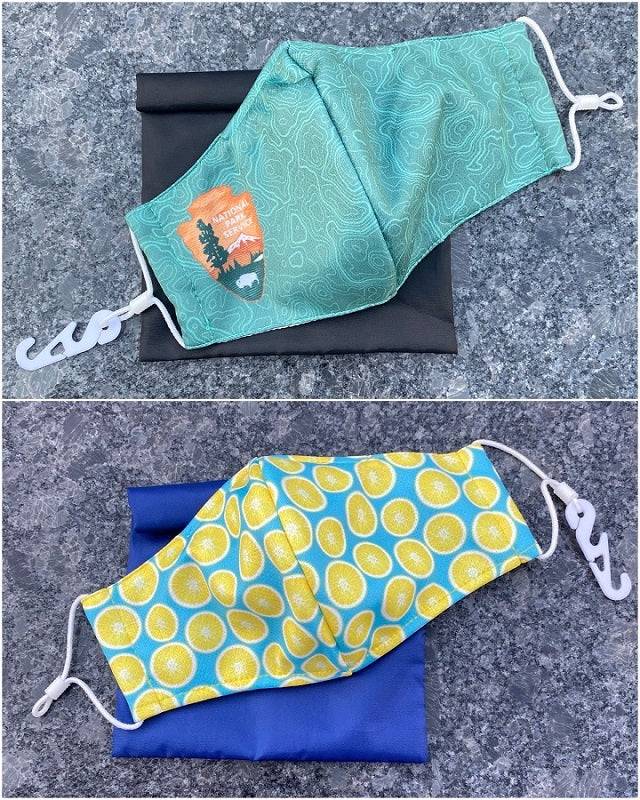 custom personal face mask in pouch