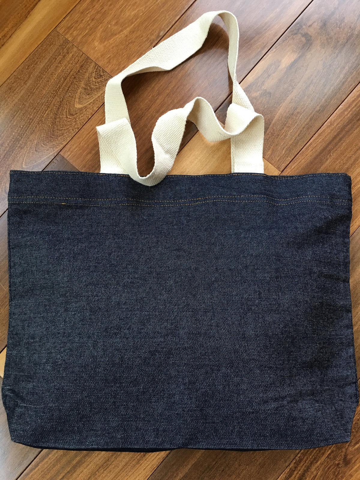 Denim Tote with Magnet Closure
