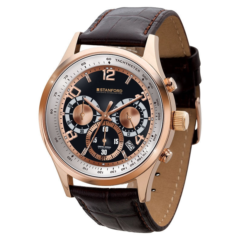 Elegant Rose Gold Finish Watch
