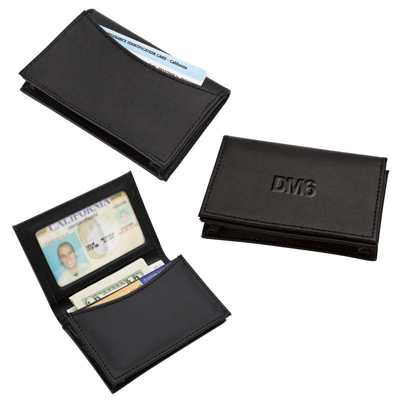 Expandable Leather Business Card Holder