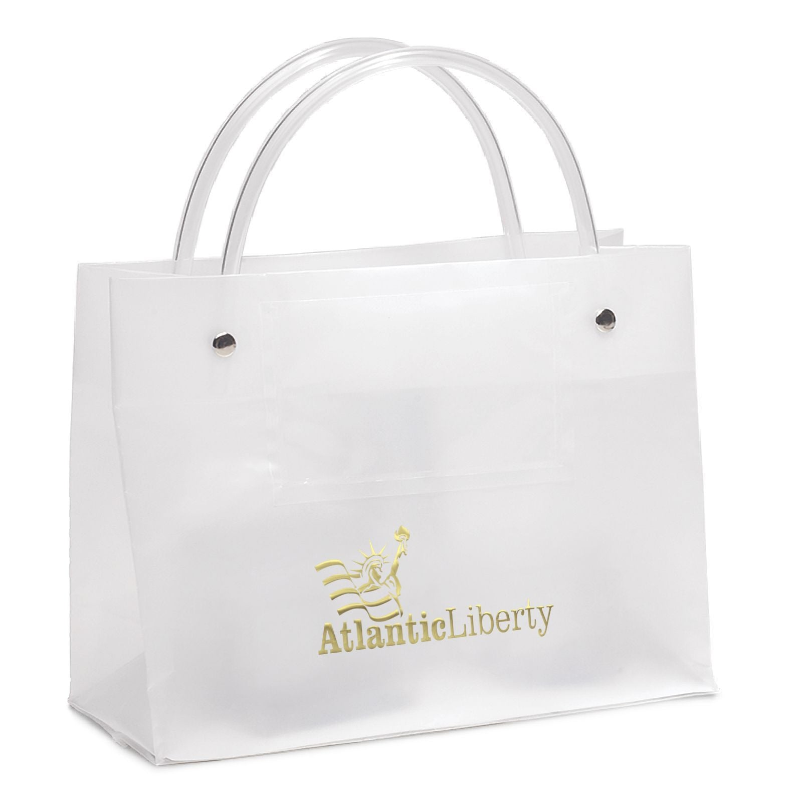 frosty clear plastic bag with card pocket - Custom Plastic Bags