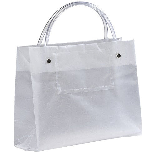Frosty Clear Plastic Bag with Card Pocket