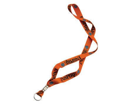 Full Color Waffle Weave Polyester Lanyard