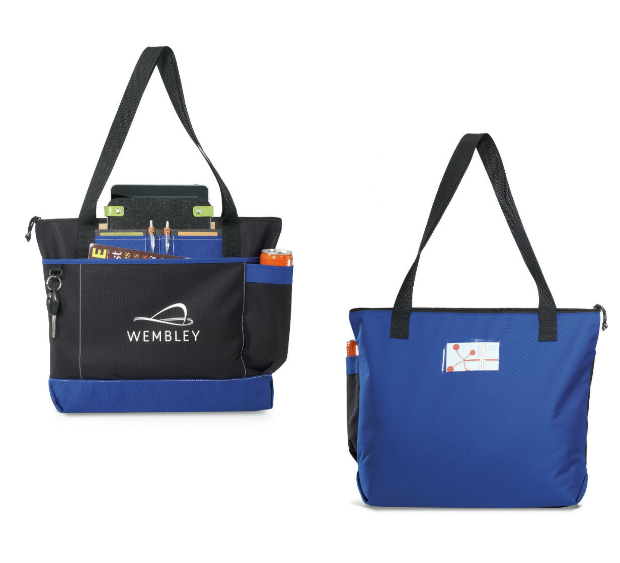 Business Totes with ID Window-Custom Meeting Tote Bag - PROMOrx 30858162d2