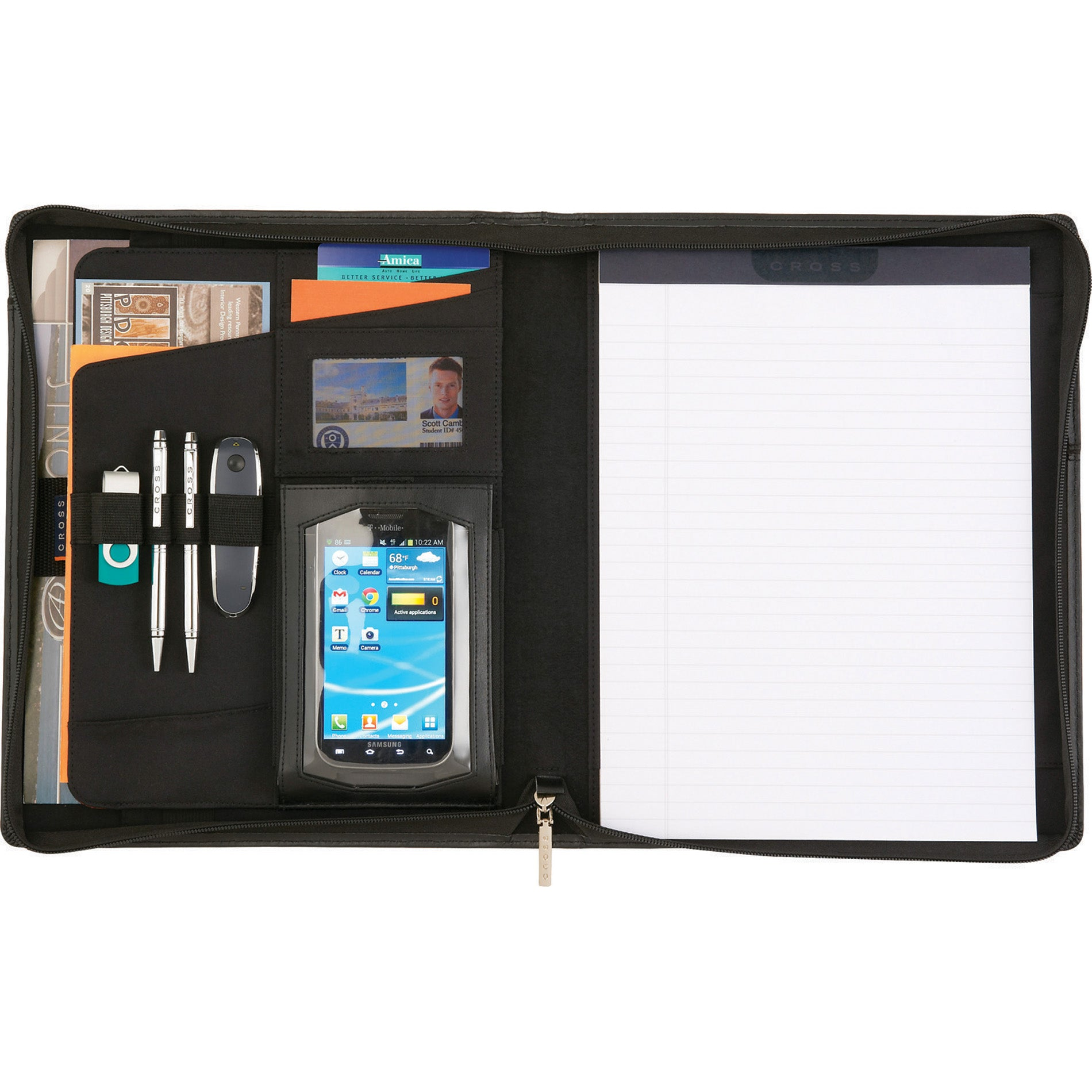 Genuine Leather Tablet Portfolio with Pen
