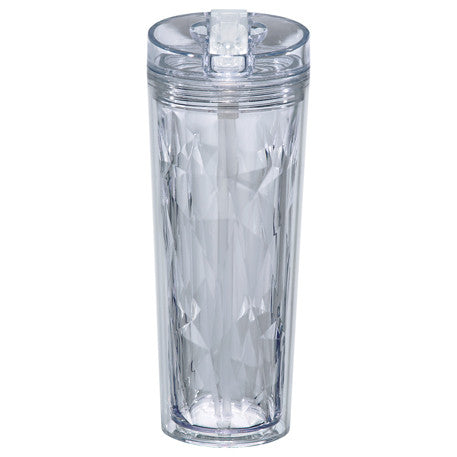 Hot or Cold Acrylic Cup with Lid and Straw