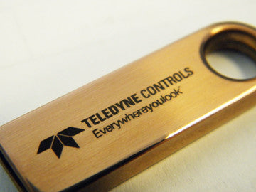 Custom Engraved Flash Drives - gold