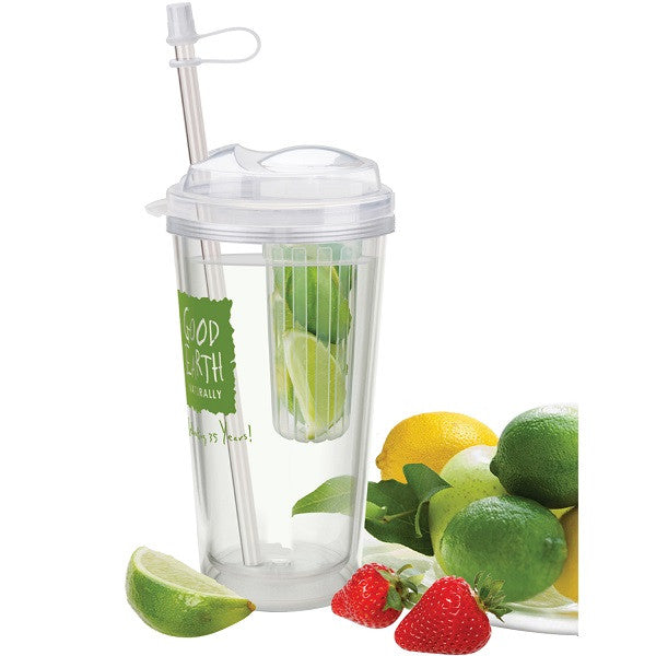 Fruit and Veggie Infuser Cups with Straw