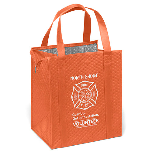Custom Insulated Grocery Totes Orange