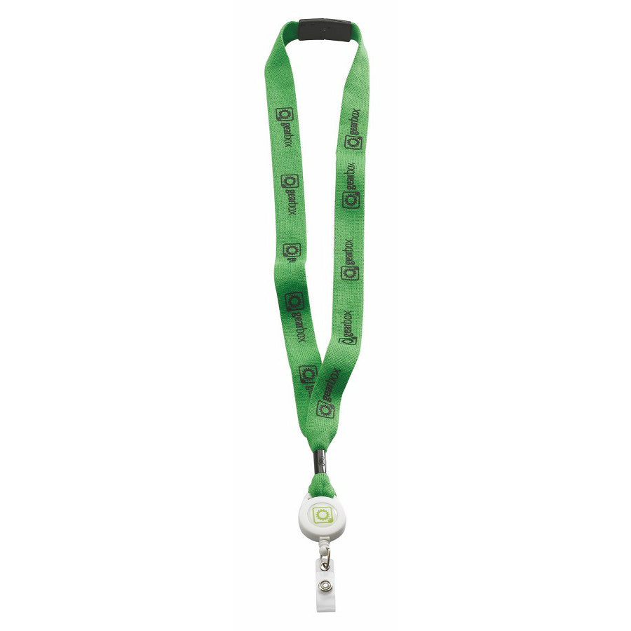 Lanyard with Retractable Badge Clip