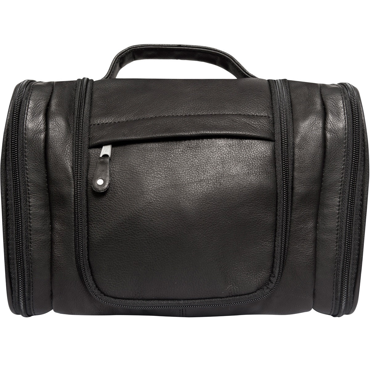 Genuine Leather Hanging Toiletry Bag