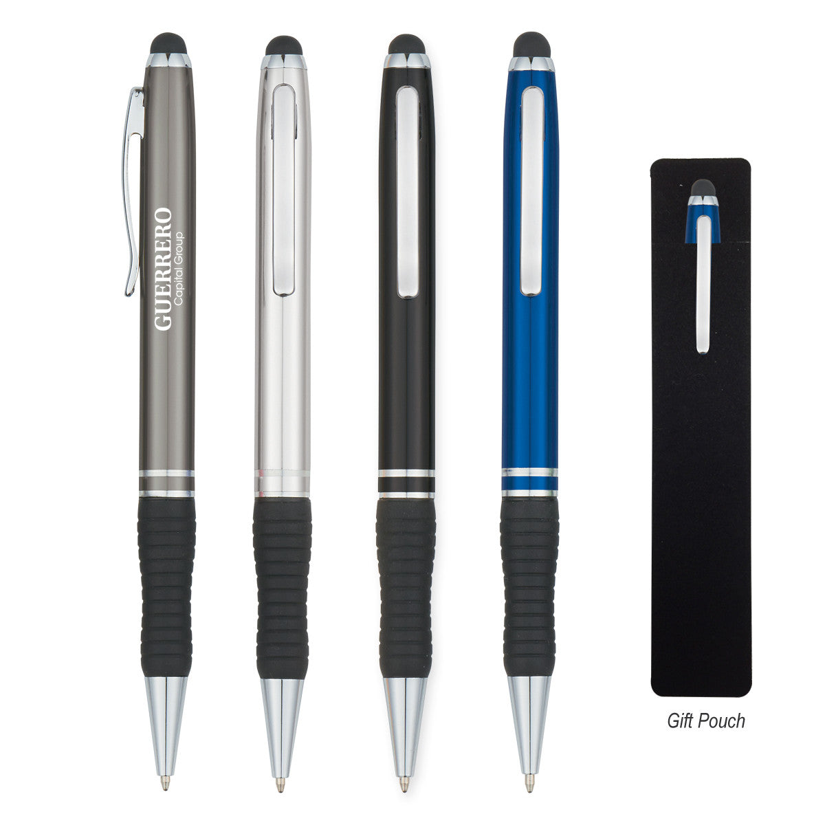 Metal Stylus Pen with Rubber Grip