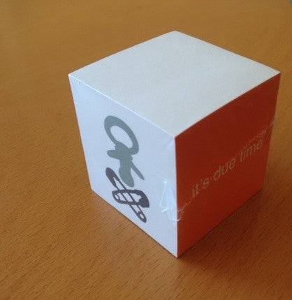 Custom mini adhesive note cube shrink wrapped