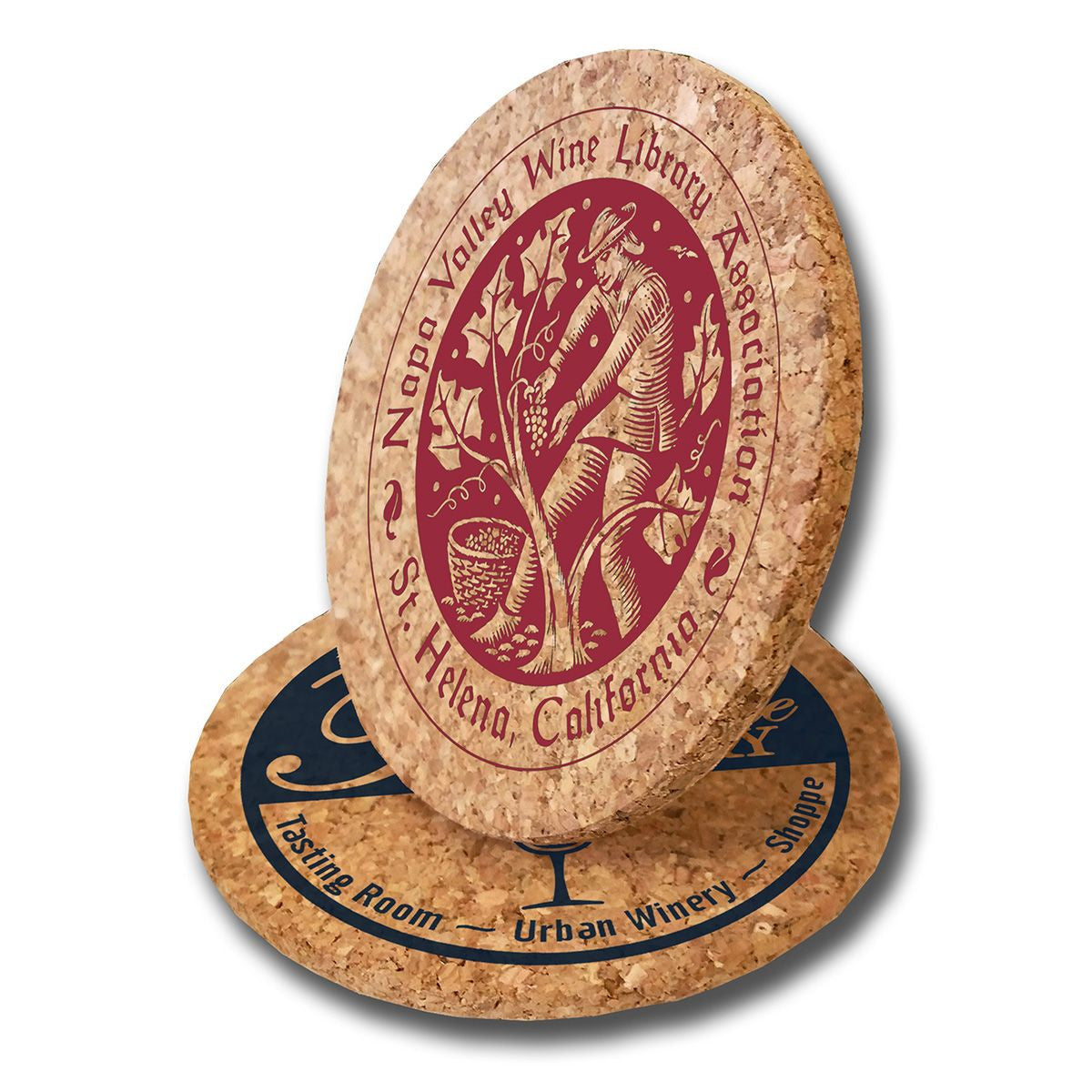 Natural Custom Cork Coasters