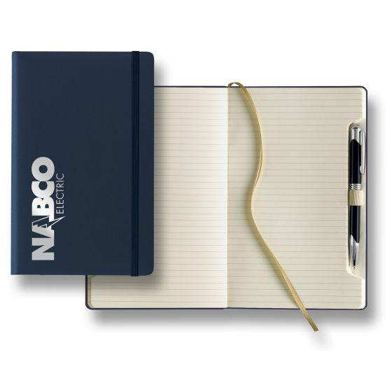 Custom Journal Set with Pen - navy