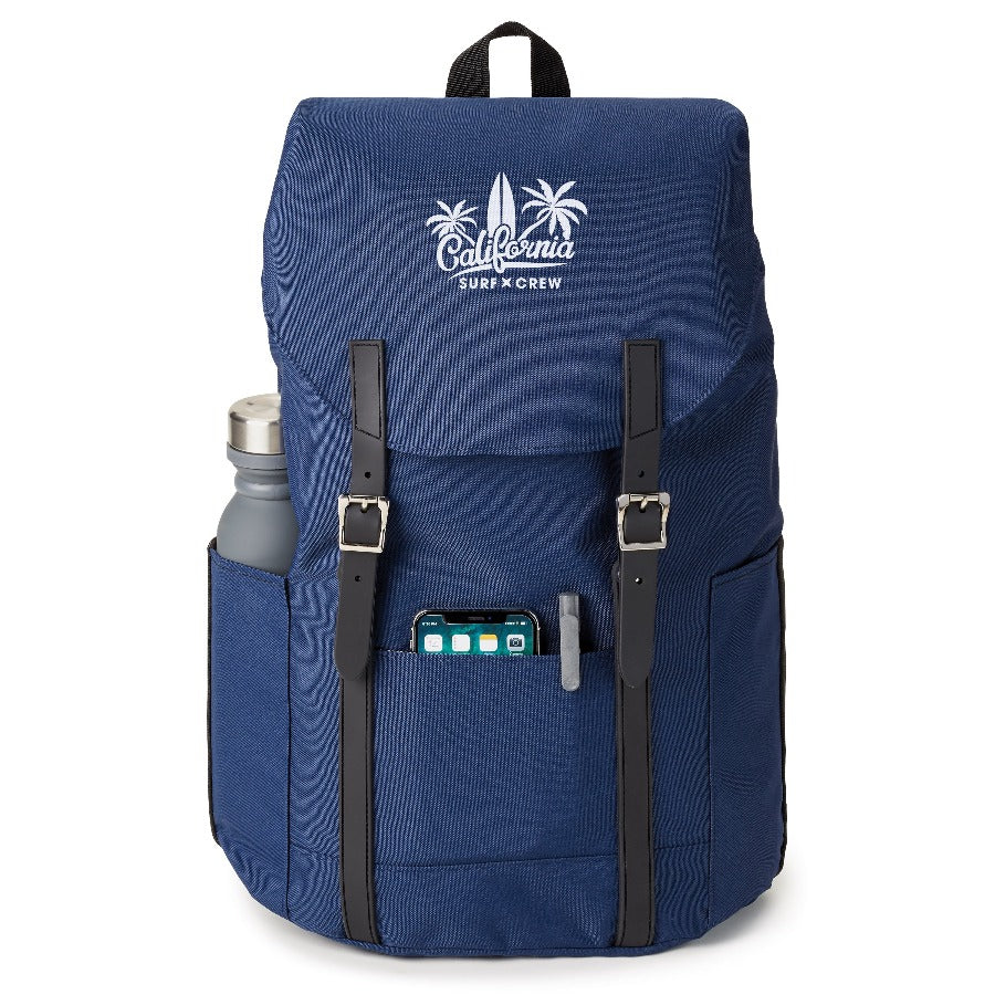 recycled backpack front navy