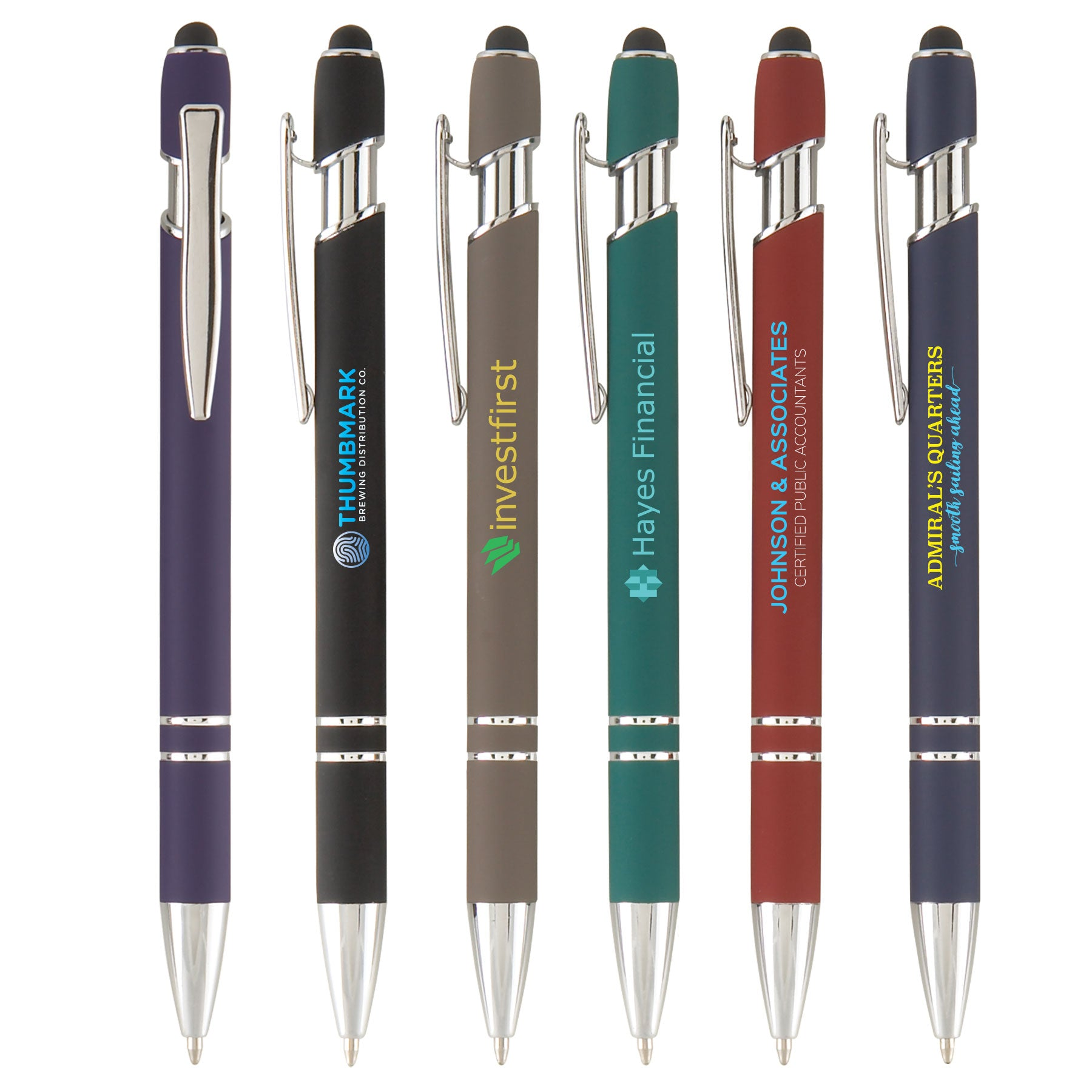 Retractable Metal Pen with Stylus