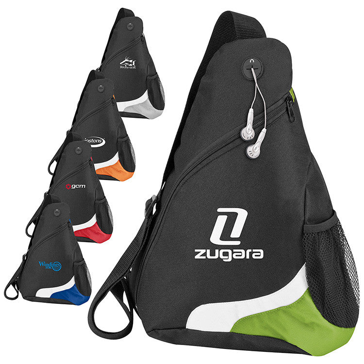 Sports Sling Bag with Headphone Port