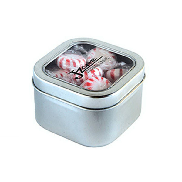 Square Candy Filled Tin