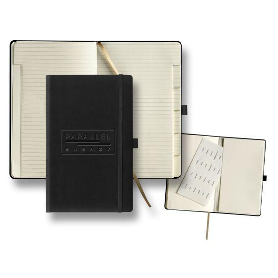 custom journal with tabbed pages - black