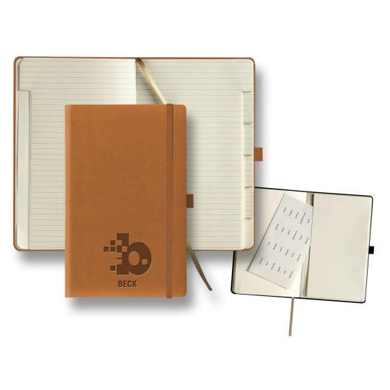 custom journal with tabbed pages - beige
