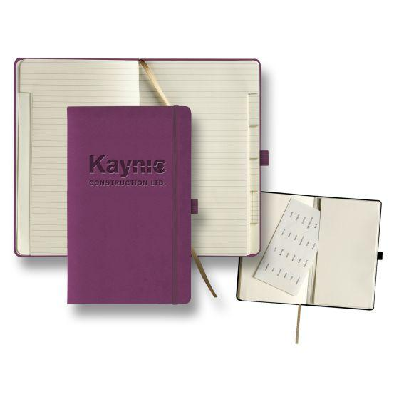 custom journal with tabbed pages - purple