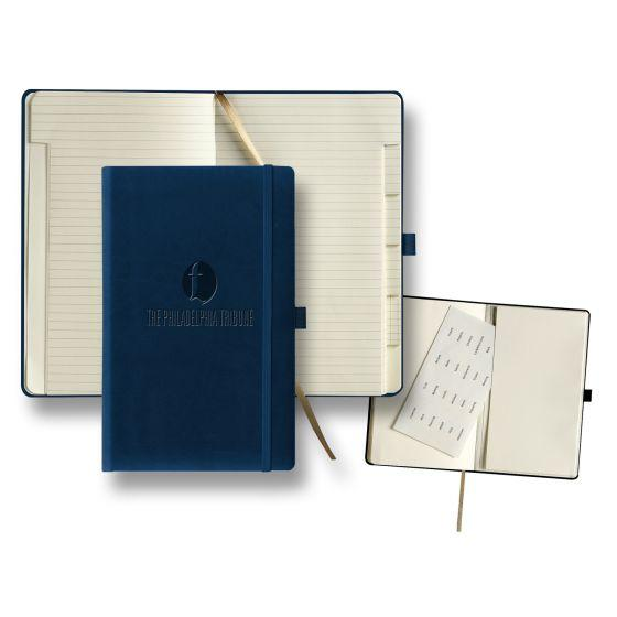 custom journal with tabbed pages - blue