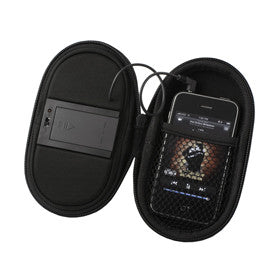 Mobile Carrying Case with Built-In Speaker